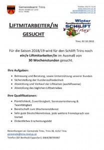 Ausschreibung Liftmitarbeiter 18_19